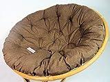Rattani - Polster, Kissen, Auflage, Ersatzpolster für Rattan Papasansessel, Stoff Nuevo Loneta, D 120 cm, Made in EU