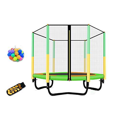 JCJ Fitness trampoline, indoor kindertrampoline, sterk lichaam met beschermend net Rebounder, 48inch veilige en stabiele rebound boormachine (L × W × H) 48 × 31.5 × 39.4inch