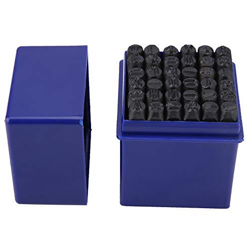Yunnyp Alfanumeriek Gestempeld Punch, 36 stks/set 6 mm Staal Alfabet Letter Nummer Stempel Punch Die Tool Kit