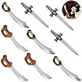 Herefun Gonfiabile Pirata Spada 9 PCS, Coltello Palloncino Pirata, Sword Cutlass Stick, Pirate Tema Accessories, Decorazioni per Feste Compleanno Pirati Regali di Compleanno per Bambini (9pcs)