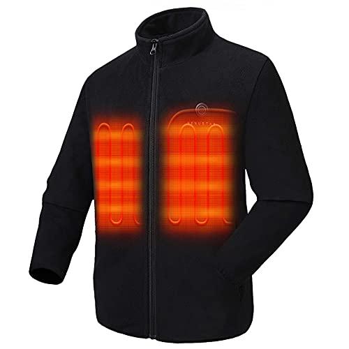 Venustas Men's Fleece Heated Jacket with Battery Pack 7.4V, Fleece Heated coat