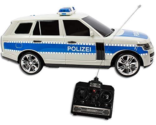 Trendario Polizeiauto RC Ferngesteuert mit Licht und Sound Spielzeugauto für Kinder Modellauto Kinderspielzeug