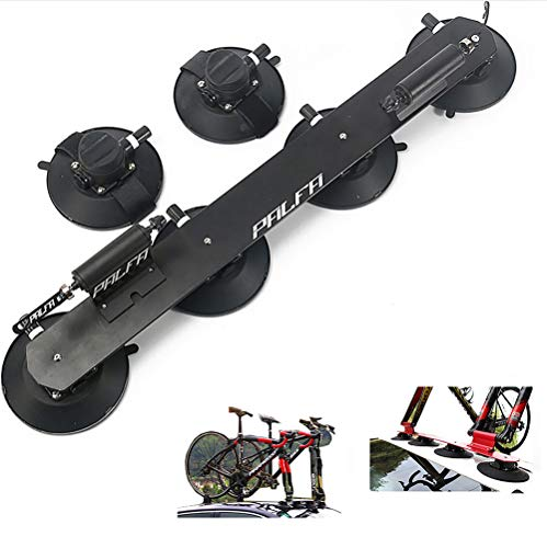 Yajun Portabicicletas con Ventosa Baca Techo para Bicicleta Aluminio Estante De Transporte Montaje Coche Piezas De Bicicleta,Black-2