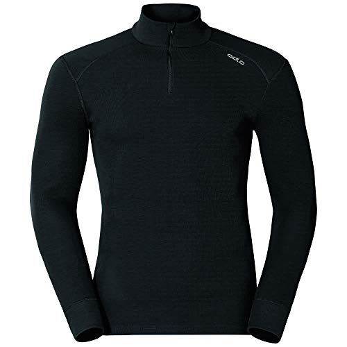 Odlo Bl Top Turtle Neck L/S Half Zip Active W-Black, Intimo-Uomo