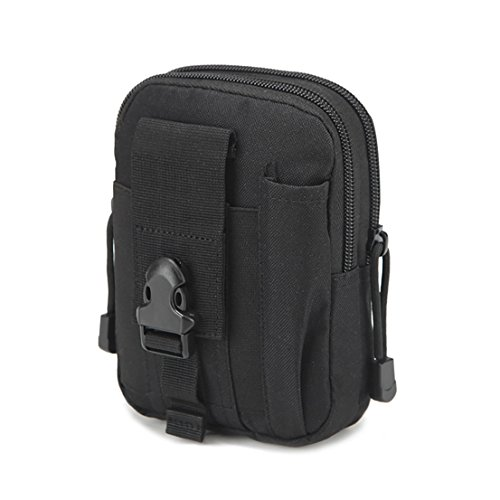Multi-Purpose EDC Vape Pouch Bag, Vape Case,Tactical Bag Pouch, Military Nylon Utility Tactical Waist Pack Camping Hiking Pouch (Black)