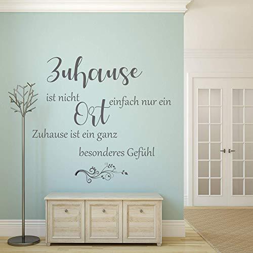 Wandschnörkel ® Wandtattoo Spruch AA897~Zuhause ist nicht einfach nur ein Ort.Zuhause ist ein ganz besonderes Gefühl~
