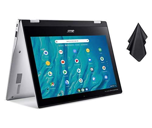 "2021 Newest Acer Chromebook Spin 311 Convertible Laptop, MediaTek 8-Core Processor, 11.6"" HD Touch, 4GB LPDDR4, 32GB eMMC, Gigabit Wi-Fi 5, Bluetooth 5.0, Google Chrome, Silver + Oydisen Cloth"