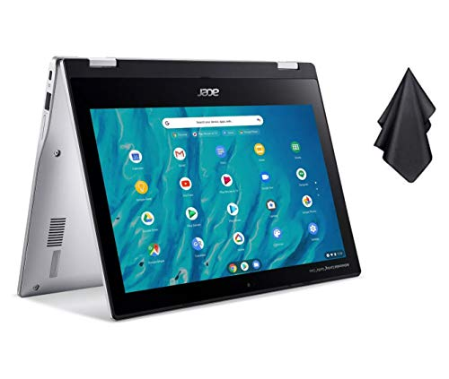 2021 Newest Acer Chromebook Spin 311 Convertible Laptop, MediaTek 8-Core Processor, 11.6' HD Touch, 4GB LPDDR4, 32GB eMMC, Gigabit Wi-Fi 5, Bluetooth 5.0, Google Chrome, Silver + Oydisen Cloth