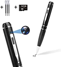 Hidden Camera Pen 32GB,FUVISION Full HD 1080P Spy Pen Camera Camcorder with Photo..