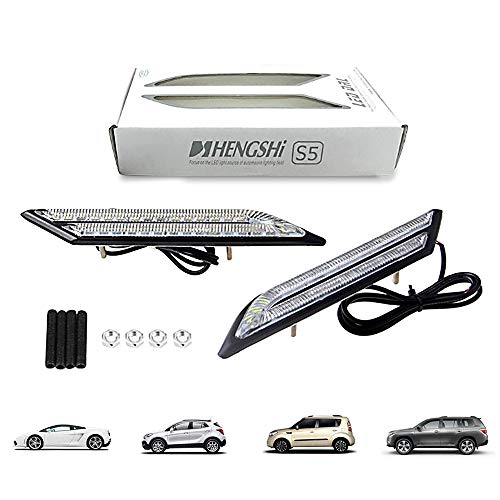 HopeU5® Ein Paar Wasserdichte Auto Nebelscheinwerfer LED Tagfahrlicht Auto Bremse Und Lenkung Lichtquelle Styling Reines Weiß
