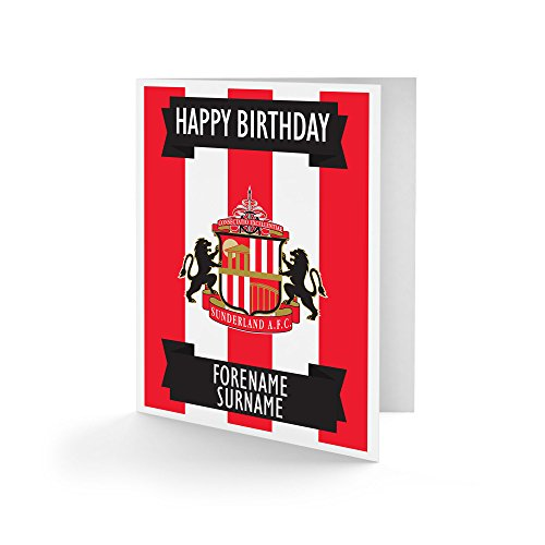Official Personalised Sunderland AFC Crest Birthday Card