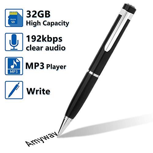 Bolígrafo Grabador de Voz Digital,Grabadora de Audio y Voz