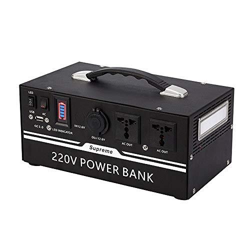 Draagbare krachtcentrale, 220V-600W, draagbare buiten generator, zonnegenerator (zonnepaneel optioneel) Mobiele stroom voor buitenshuis kamperen