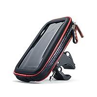 (アクアランド) AQUALAND スマホホルダー 防水 防塵 360度回転 落下防止ワイヤー付き iphone 強力固定 各種スマホ対応 マジックテープで調節 自転車 バイク スクーター 原付【製品保証3か月】 (XLサイズ)