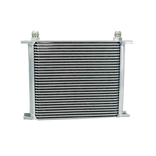 Suncolor8 Engranaje 30 Filas refrigerador de Aceite Universal de la transmisión del Motor del refrigerador de Aceite Kit AN10 10 AN Manillar (Color : Silver)