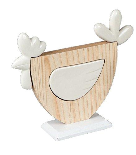 Formano Décoration de Pâques en Porcelaine et Bois Motif Coq 12 cm