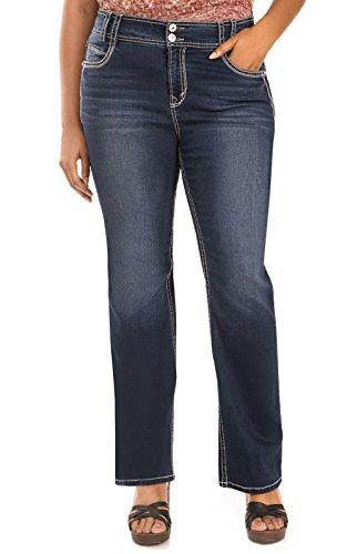 WallFlower Junior's Plus-Size InstaStretch Curvy Bootcut Jeans, Chrystie, 18 Plus