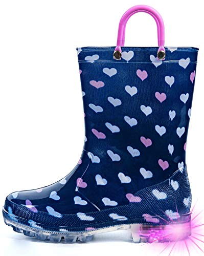 Western Chief Girls Glitter Rain Boot, Turquoise, 1 M US Little Kid