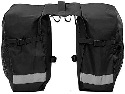 Drohneks Fahrradtasche Fahrradkoffer 28L Reflektierende Fahrrad-Gepäckaufbewahrung Gepäckträger-Packtaschen Fahrrad Fahrrad Rücksitz Fahrradlenker-Tasche (Farbe: Schwarz, Größe: 28L)