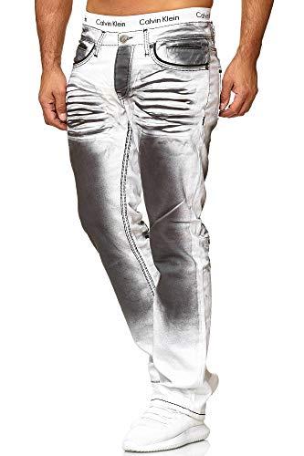 OneRedox Herren Jeans Denim Slim Fit Used Design Modell 5168 33