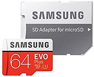 Samsung 64GB EVO Plus Class 10 Micro SDHC with Adapter (2 Pack)