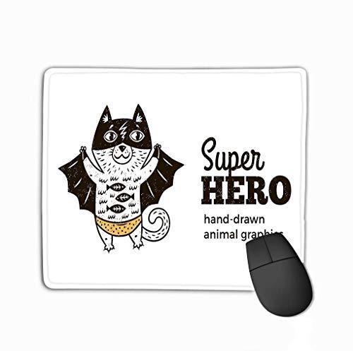 Preisvergleich Produktbild Mousepad Custom Design Gaming Mauspad Gummi Längliche Maus Matte Katze Superheld Kostüm Charakter Weißer Hintergrund Tier Kinder Cartoon Kleine Superhelden Hand gezeichnet
