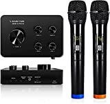 Sound Town Wireless Microphone Karaoke Mixer System with HDMI ARC, Optical, AUX, Bluetooth - Supports Smart TV, Media Box, Sound Bar (SWM15-PRO)