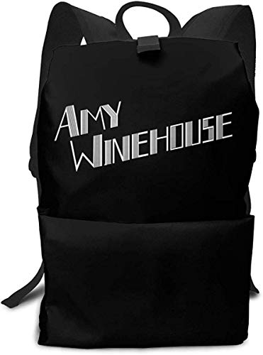 Ahdyr Amy Winehouse Logo Impresión de Formato Completo Mochila Unisex, Bolso de Hombro con cordón, Mochila, Bolsillo bolsillot Lienzo, Bolsa de Viaje, Bolsa de Viaje.