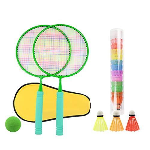 K9CK Racchette da Tennis Giocattolo, 2 in 1 Bambini Racchetta Sportiva Allaperto con Racchetta Badminton Tennis Racchetta Playset per 8-12 Anni