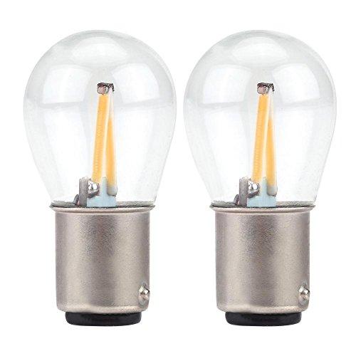 EBTOOLS 12V COB LED-lampen, 2PCS 1157 glazen lens COB LED-gloeidraad auto richtingaanwijzer Parking omgekeerde lamp(Rood)