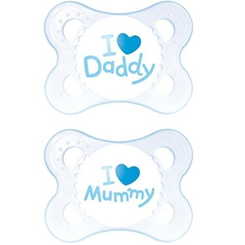 MAM Style - 2 x Chupete 'I Love Mummy & I Love Daddy'