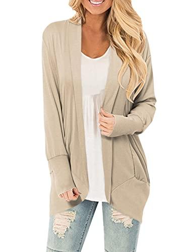 CNFIO cardigan dam ledig ledig ledig cardigan långärmad ytterkläder jacka höst tunna jackor