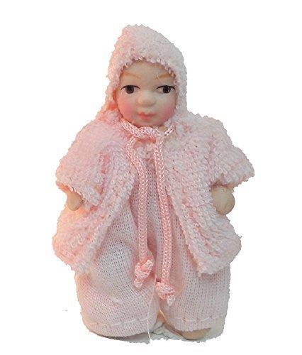 Melody Jane Puppenhaus Kleines Mädchen in Rosa Jacke Miniatur 1:12 Porzellan-Menschen