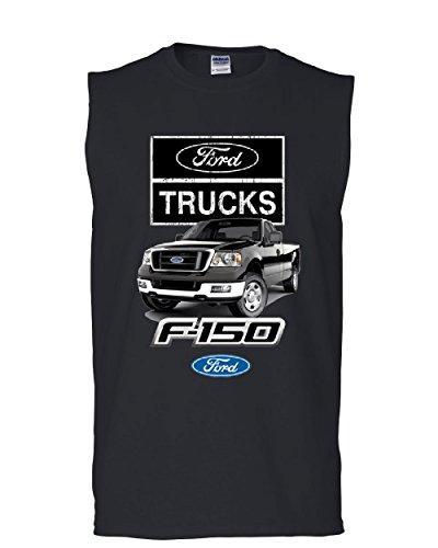 Ford Pickup Trucks F-150 Muscle Shirt Offroad Country Built Tough 4X4 Sleeveless Black XL