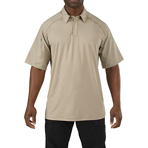 5.11 Tactical Series Rapid PERFORMANCEPOLO Polo Homme, Silver Tan, FR : L (Taille Fabricant : L)