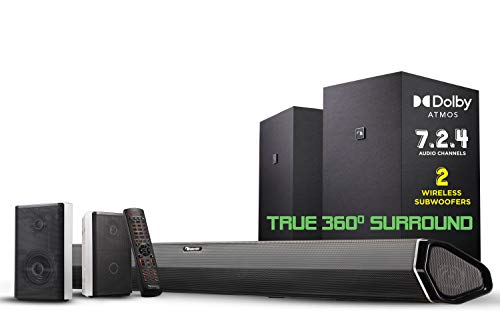 "Nakamichi Shockwafe Elite 7.2.4 Channel 800W Dolby Atmos Soundbar with Dual 8"" Subwoofers..."