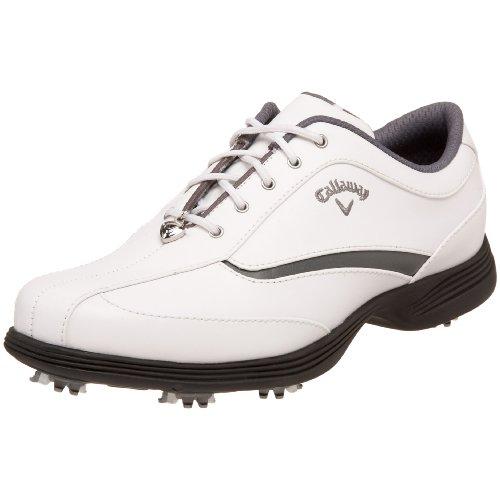 Callaway Women's Charm Golf Shoe,White/Graphite,10 M US