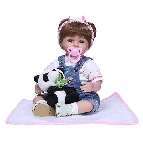 Milageto Reborn Adorable 16 Pulgadas Realista Silicona Baby Doll Head Extremidades Cuerpo de Algodón