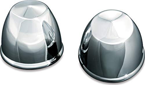 Kuryakyn 1224 Motorcycle Accent Accessory: Front End Peaked Axle Caps for 1980-2019 Harley-Davidson Motorcycles, Chrome, 1 Pair