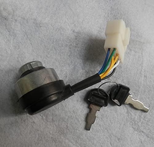 Fague 6 alambres 5K interruptor de encendido eléctrico de arranque con llaves para Honda GX390 GX420 188F 190F 6.5KW Generador de gasolina de arranque con bloqueo de palanca
