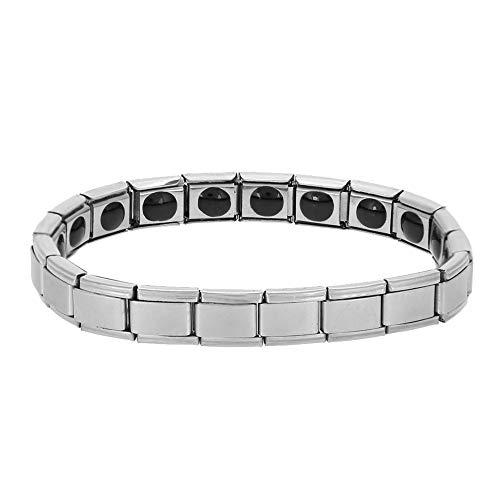 Pulseira de aço de titânio, pulseira de campo magnético de estilo simples, joias de saúde energética para homens e mulheres unissex, pulseira de mulheres, pulseira de corrente (tira)
