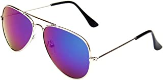 Classic Kids Aviator Sunglasses Reflective Metal Frame...