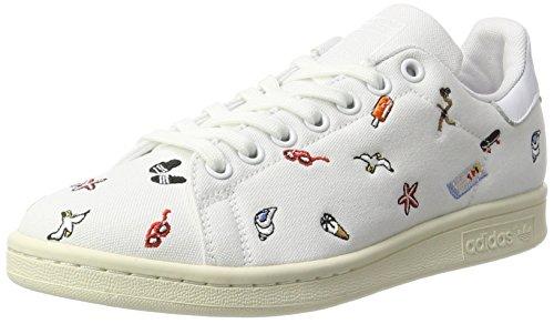 adidas Damen Stan Smith Sneaker, Weiß (Footwear White/Footwear White/Off White), 38 2/3 EU