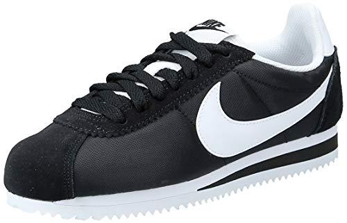Nike WMNS CLASSIC CORTEZ NYLON, Scarpe Running Donna, Nero (Black/White 011), 36.5 EU