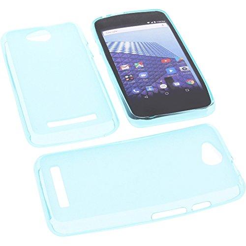 foto-kontor Tasche für Archos Access 45 4G Gummi TPU Schutz Handytasche blau