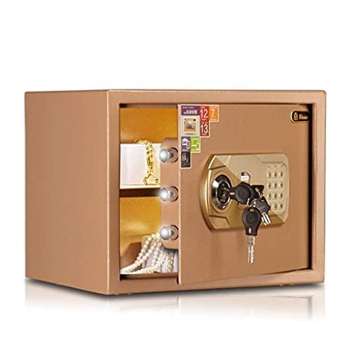 Cajas fuertes de armario, caja fuerte, caja fuerte de oficina comercial en la pared para el hogar, mesita de noche pequeña, caja fuerte pequeña, hucha, hucha, sistema de alarma dual, caja fuerte de ac