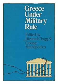Hardcover Greece under military rule; Book