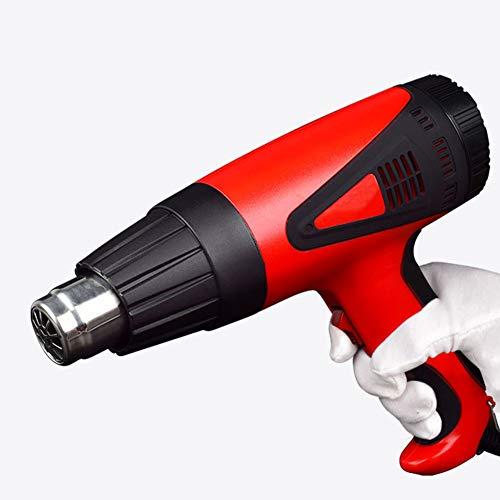 Thermostaat met draaigreep, 2000 W, heteluchtpistool met heteluchtpistool met digitale temperatuur, 50-650 °C, luchtvolume: 250 Cm3 500 Cm3
