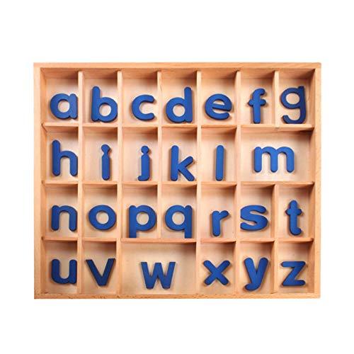 Montessori Holzpuzzles Set Kleinkind Alphabet ABC, Bewegliches Alphabet Für...