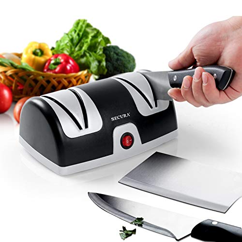 Secura Electric Knife Sharpener, 2-Stage Kitchen Knives Sharpening System Quickly Sharpening